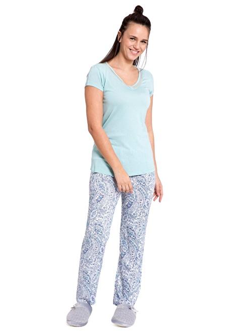 LC Waikiki Pijama Takım Yeşil